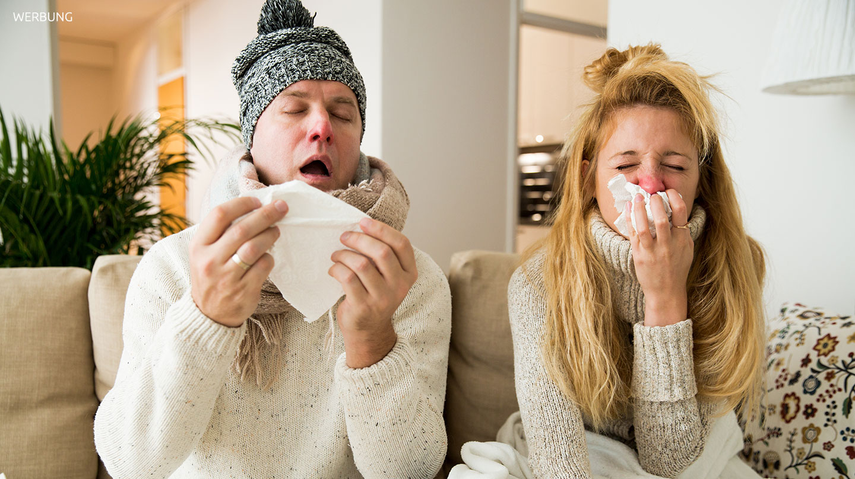 Werbung - Corona-Infektion oder Erkältung?